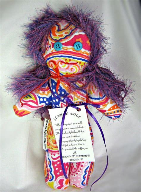 dam voodoo doll slam it dam mit wham it stress doll colorful mod