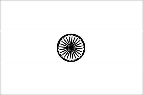 coloring pages of the indian flag indian national flag clipart 36