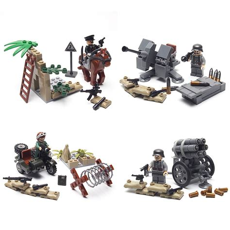 ww2 mini weapon guns set army with weapon equipment building brick toys sets toys