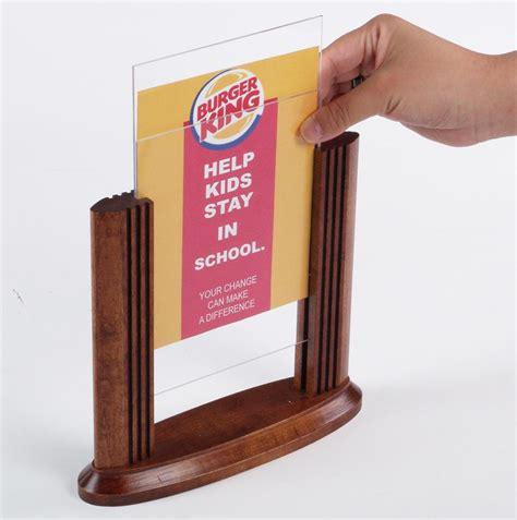Table Sign Signage Meja wood menu holders tabletop restaurant bar signage