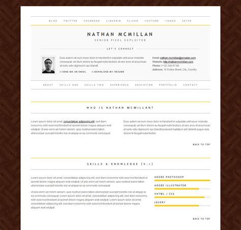 minimal templates minimalme minimal html cv resume template by qbkl