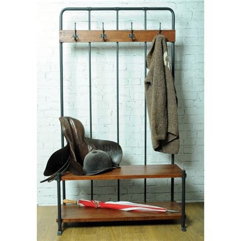 cloakroom bench industrial vintage cloakroom bench by the orchard furniture notonthehighstreet com