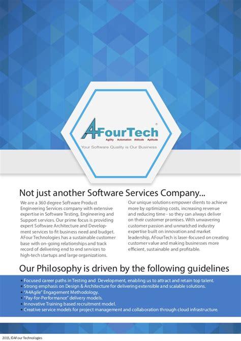 services brochure afourtech services brochure