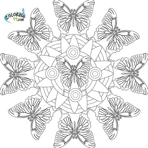 Butterfly Mandala Coloring Page | butterfly coloring pages team colors