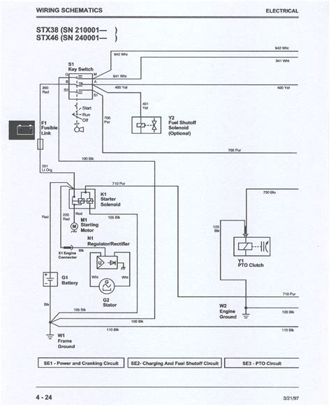 deere stx 38 wiring diagram wiring diagram