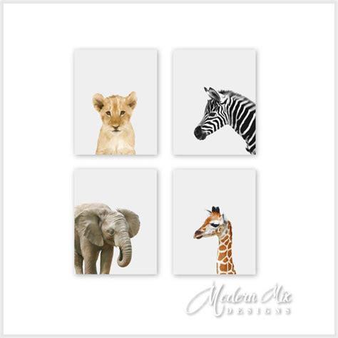 Animal Decor by Safari Animal Prints Nursery Decor Baby Animal By