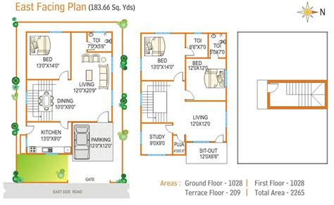 1500 Sqft floor plan navya homes at beeramguda near bhel