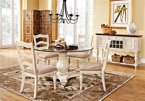 cindy crawford dining room furniture picture of cindy crawford heatherwoods bisque 5pc glass