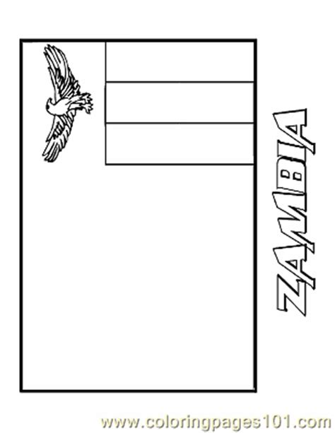 zambia coloring page free flags coloring pages