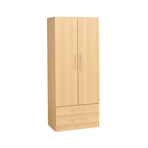2 door armoire alaska 2 door wardrobe 2 drawers ideal furniture