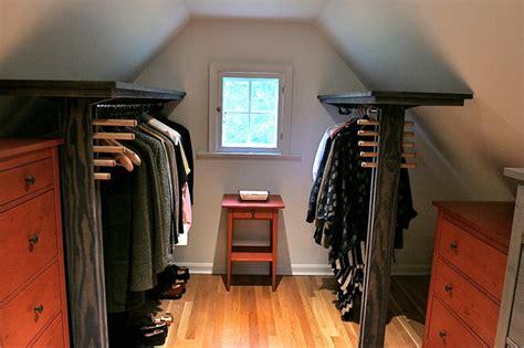 Dormer Closet dormer closet shelves w folly hanging rods modern closet baltimore by spacecraft