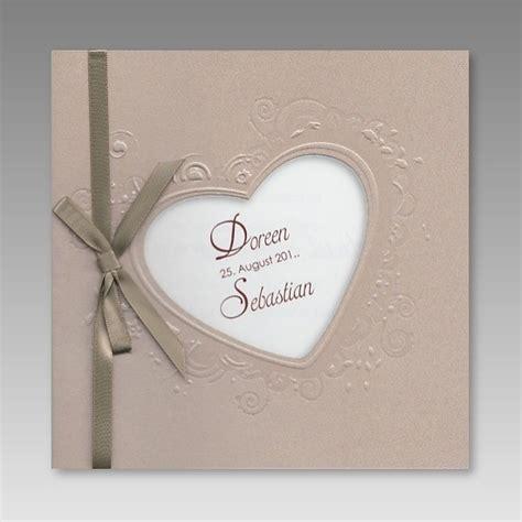 Romantische Hochzeit by Romantische Hochzeitseinladung Mit Herzausstanzung
