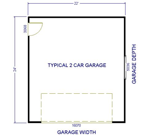 normal 2 car garage size dimensions of a 2 car garage pin car garage dimensions