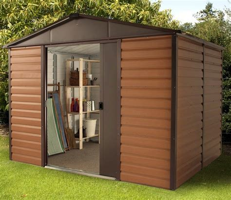 Yard Master Shed by Yardmaster 10ft X 8ft Woodview Shiplap Metal Shed