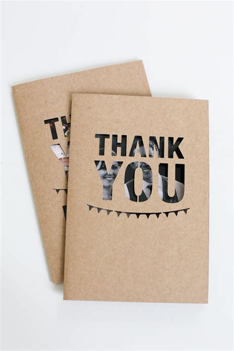Handmade Wedding Thank You Cards - unique wedding photo thank you card