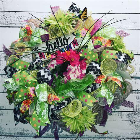 decorative mesh for doors spring wreath spring door wreath decorative wreath