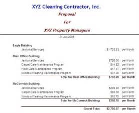 cleaning and bidding software bidpro print bid form