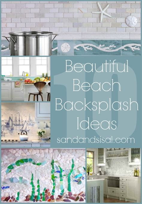 Green Glass Tiles For Kitchen Backsplashes - 10 beach backsplash ideas sand and sisal