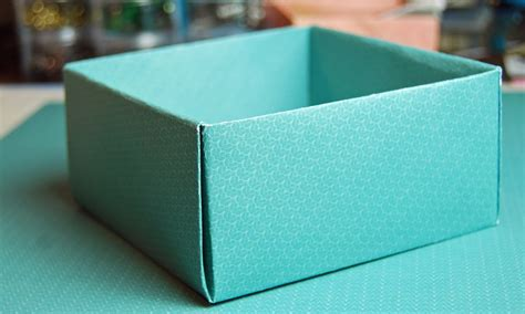 How To Make A Box Using Paper - how to make a box with paper diy paper box for