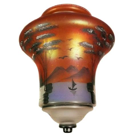 hand painted l shades antique ceiling light shade hand painted iridescent glass