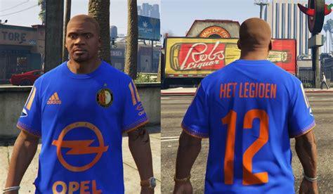 Feyenoord Away 1516 Official 2 Gta 5 Feyenoord Away Shirt 2015 2016 Mod Gtainside