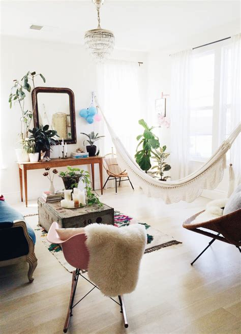 Living In A Hammock by Bring The Outdoors In Living Room Hammocks Hanging