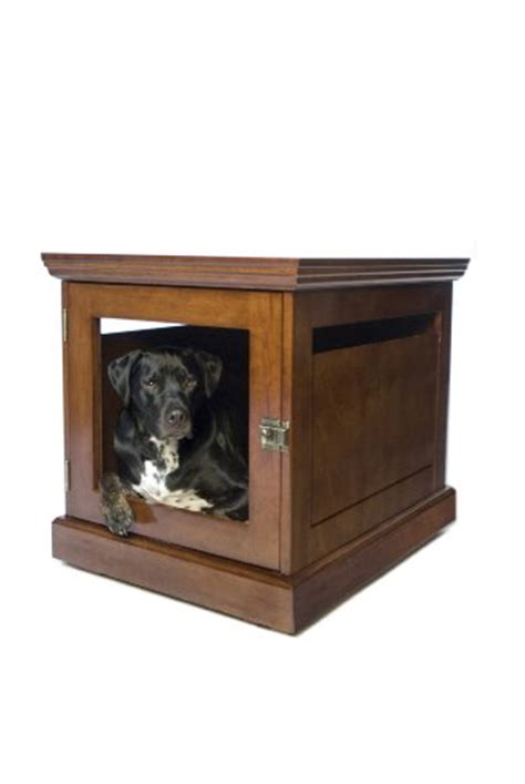 dog house end table wooden dog crate end table
