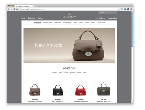 New Mulberry Website by Mulberry Website Redesigned By Poke Design Week