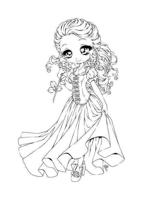 chibi characters coloring pages belle by sureya on deviantart