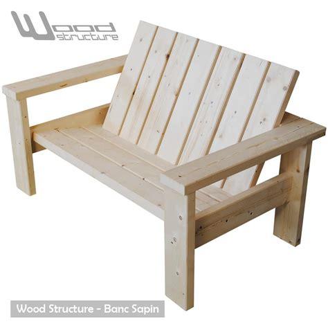 banc en bois banc sapin du nord banc de jardin wood structure