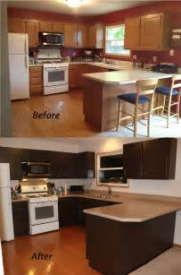 Repainting Kitchen Cabinets Before And After Painting Kitchen Cabinets Sometimes