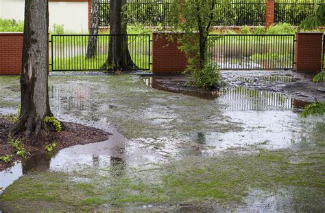 how to stop my backyard from flooding fixing lawn flooding problems harmony outdoor living