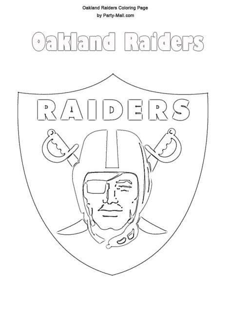 oakland raiders logo  oakland raiders coloring page