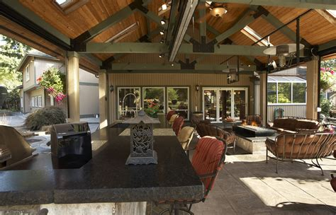 large covered outdoor living space remodel mcadams