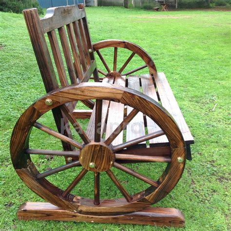 bench wheel new genuine kasa fir wood park garden patio wheel bench 2