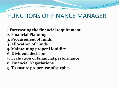 Mba Financial Management Functions by Financial Management Powerpoint Slides