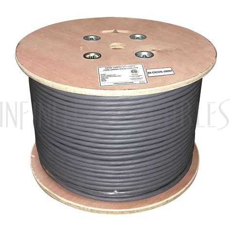 25 pair cat 5 cable 1000ft 25 pair cat5e solid utp ft4 cmr bulk cable grey