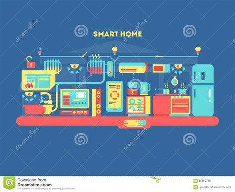 smart design smart home design concept stock vector image 66660718
