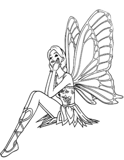 Rainbow Fairies Coloring Pages Free Printable Fairy Coloring Pages For Kids by Rainbow Fairies Coloring Pages