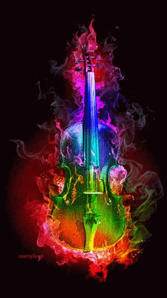 colorful violin wallpaper from fantasy to love community google animated gif