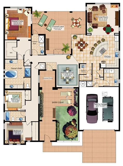 Love The Idea That All The Bedrooms Are Together Formal Sims House Plans