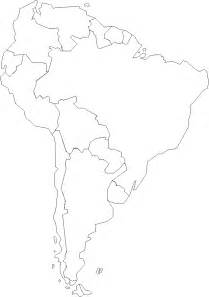 blank political map of south america