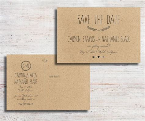 diy save the date cards templates best 25 diy save the dates ideas on save the