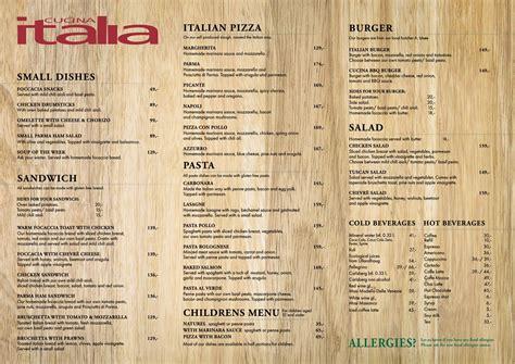 cucina ita meny cucina italia