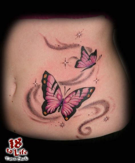 butter tattoo butterfly butter belly swirl butterfly tatto on