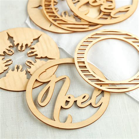 quot noel quot holiday laser cut wood ornaments christmas