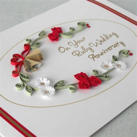 Wedding Anniversary Card Quilling by 17 Best Images About Quilled Anniversary Card On
