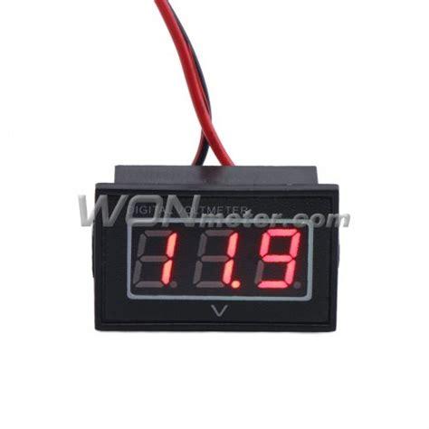 Voltmeter Mini Dc 12 Volt waterproof digital volt meter dc 2 5 30v led 12v 24v battery