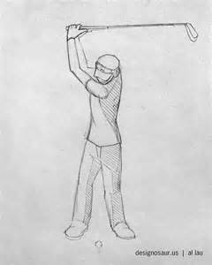 golf draw swing sketch golf swing blog designosaur us
