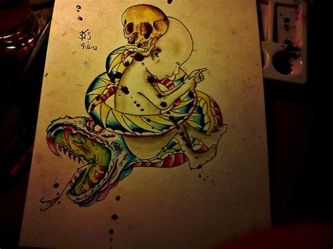 tattoo flash watercolor tattoo flash watercolor by dopehat569 on deviantart